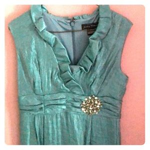 Teal 8P dress with rhinestone accent